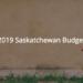 2019 Saskatchewan Budget